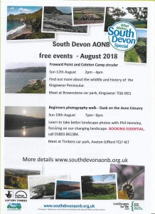 AONB EVENTS: August – October 2018