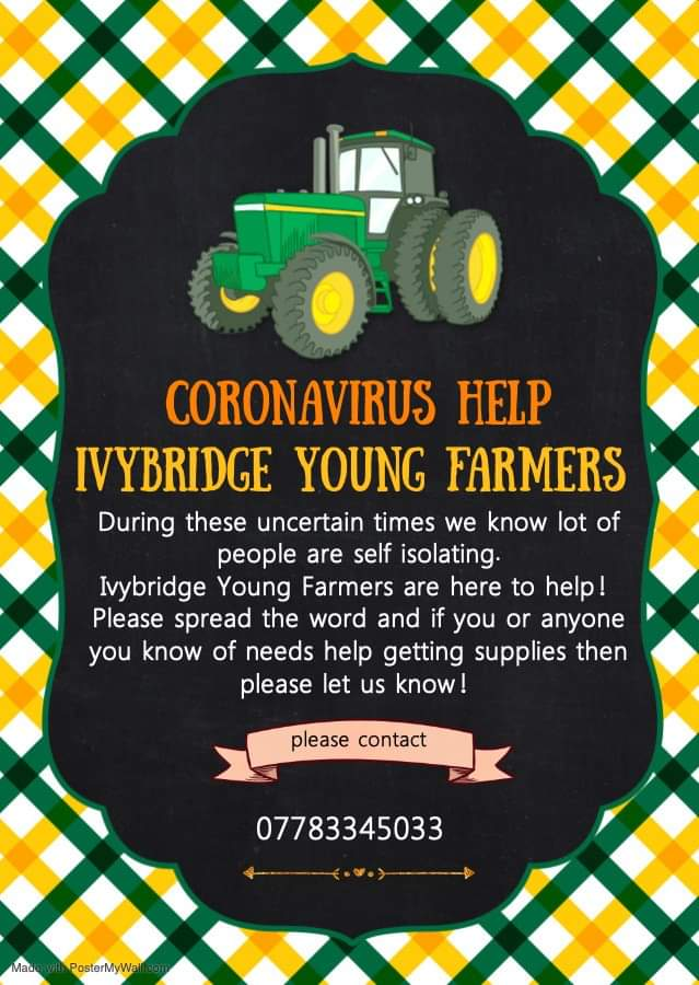 COVID-19: IVYBRIDGE YOUNG FARMERS OFFER HELP