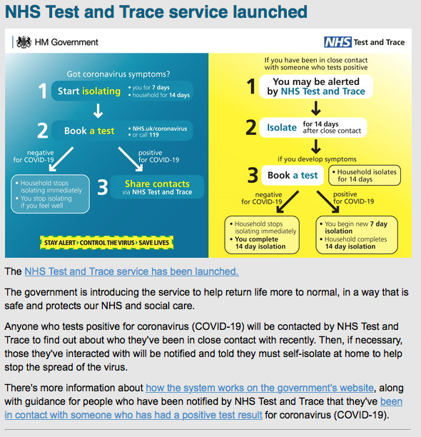 NHS: Test & Trace – how it works