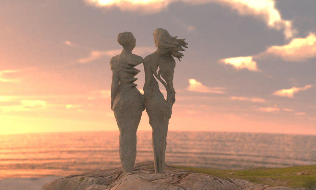 A CONTROVERSIAL SCULPTURE FOR BURGH ISLAND ?