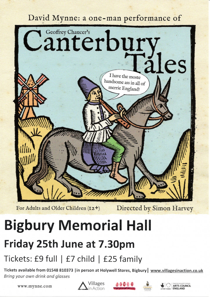 MEMORIAL  HALL EVENTS RE-START: CANTERBURY TALES